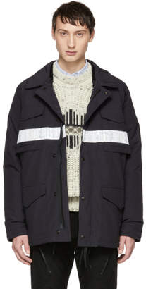 Junya Watanabe Navy Canada Goose Edition Down Double Layer Jacket