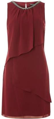 Dorothy Perkins Womens **Billie and Blossom Mulberry Embellished Trapeze Dress