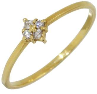 Ahkah 18K Yellow Gold with 0.05ct Diamonds Ring Size 6.75