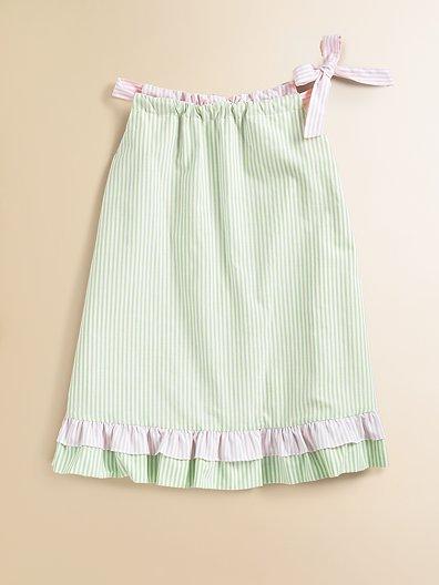 Anavini Toddler's & Little Girl's Reversible Striped Jumper Dress