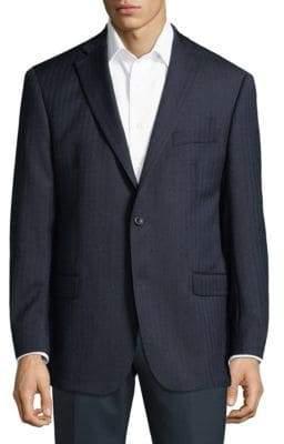 Michael Kors Stripe Wool Jacket