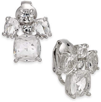 Kate Spade Crystal Cluster Clip-On Button Earrings