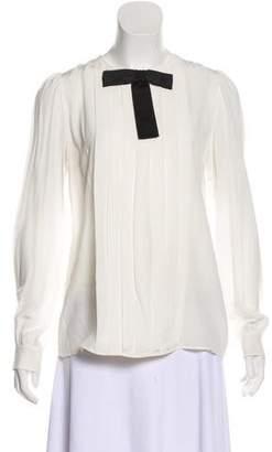 Dolce & Gabbana Silk Pin Tucked Blouse