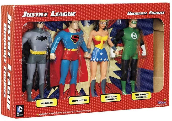 Toysmith DC Comics Justice League Bendable Action Figure Boxed Set by Toysmith