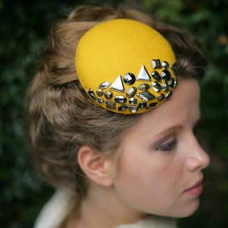 The Headmistress Studded Felt Pillbox Hat