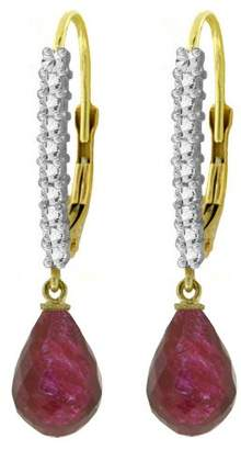 Rubie's Costume Co Galaxy Gold 14k Yellow Gold Leverback Earrings with Diamonds and
