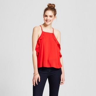 Mossimo Supply Co. Women's Ruffle Tank - Mossimo Supply Co. Red $16.99 thestylecure.com