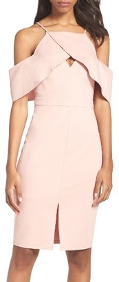 Women's Adelyn Rae Cold Shoulder Sheath Dress $94 thestylecure.com