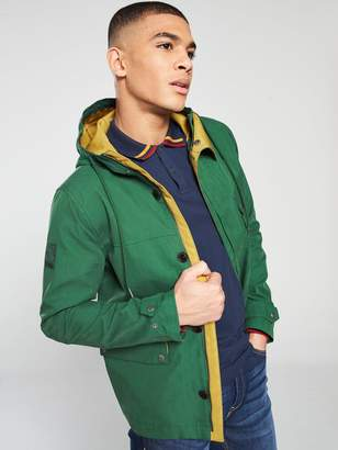 Pretty Green Contrast Hooded Jacket - Green