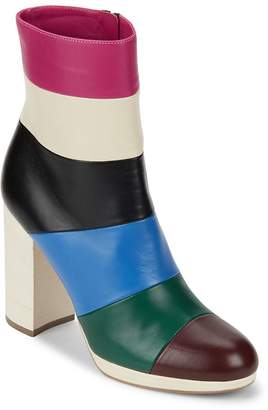 Valentino Women's Colorblock Leather Ankle Booties