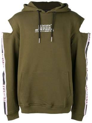 Icosae cold shoulder hoodie