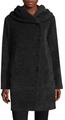 Sofia Cashmere Wool-Blend Button-Front Coat