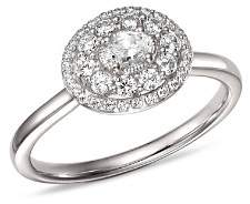 Bloomingdale's Diamond Halo Oval Ring in 14K White Gold, 0.50 ct. t.w. - 100% Exclusive
