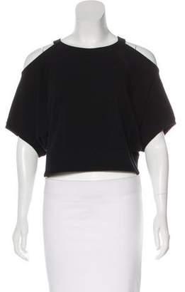 G.V.G.V. Short Sleeve Crop Sweatshirt