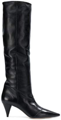 Miu Miu tall pointed boots