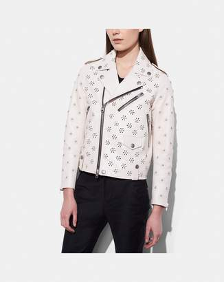 Coach Moto Jacket With Whipstich Eyelet