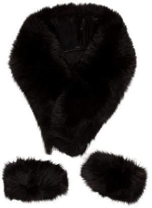 Fur Fox Fur Stole & Cuff Set