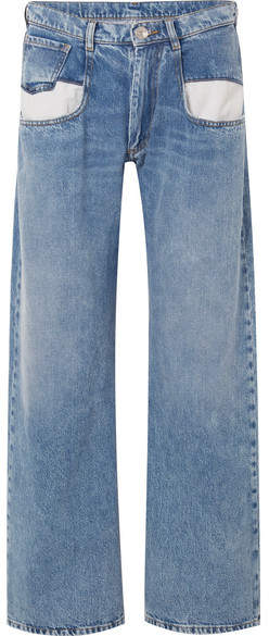 Maison Margiela - Paneled Boyfriend Jeans - Blue