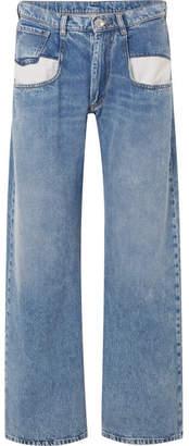 Maison Margiela Paneled Boyfriend Jeans - Blue