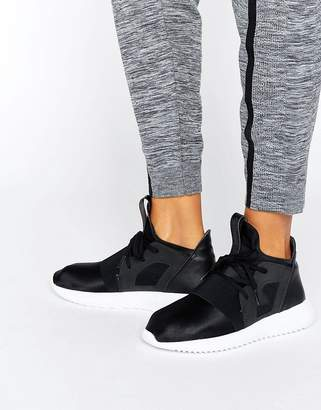 Adidas adidas Originals Black Tubular Defiant Sneakers $120 thestylecure.com