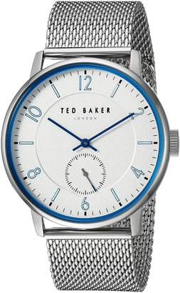 Ted Baker Men's 'OWEN' Quartz Stainless Steel Casual Watch, Color Silver-Toned (Model: TE50278001)