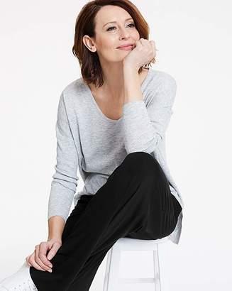 Fashion World Wide Leg Stretch Jersey Trousers Long