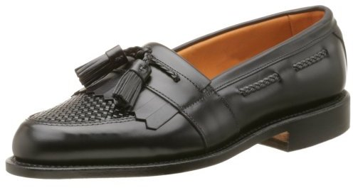 Allen Edmonds Men's Cody Tassel Loafer,Black/Black,11 D