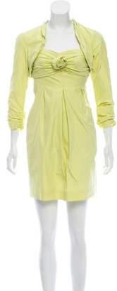 Paule Ka Strapless Mini Dress Set