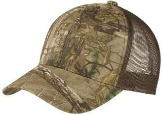 TOP HEADWEAR Structured Camouflage Mesh Cap