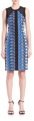 Carmen Marc Valvo Abstract Pebble Crepe Cocktail Dress $550 thestylecure.com