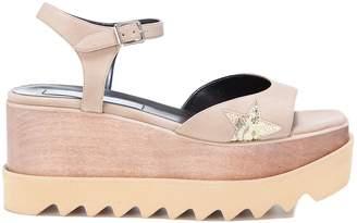 Stella McCartney Elyse Star Wedge Sandals