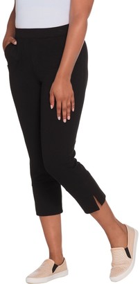 Denim & Co. Active Pull-On French Terry Crop Pants