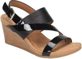 Comfortiva Leather Wedge Sandals - Vail