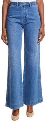 MiH Jeans Bay High-Rise Flared Wide-Leg Jeans