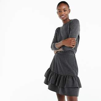 J.Crew Wool flannel ruffle skirt