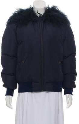 Mr & Mrs Italy Down Mongolian Lamb Trim Jacket w/ Tags