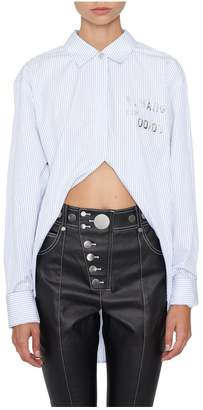 Alexander Wang Oversized High-Low Striped Shirt