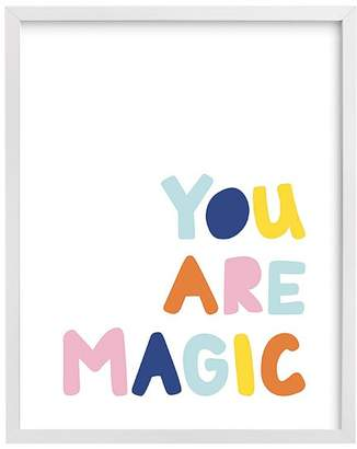 Pottery Barn Kids west elm x pbk You Are Magic Wall Art by Minted®, White, 11x14