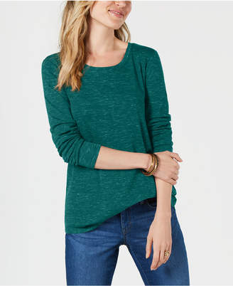 Style&Co. Style & Co Printed Long-Sleeve T-Shirt