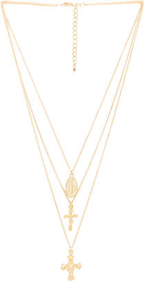 8 Other Reasons Crossed Layered Necklace