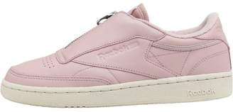 Reebok Classics Womens Club C 85 ZIP Trainers Shell Pink Paper White Met  Silver 1f0cd1dd8