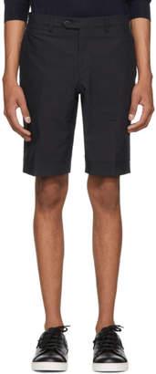 Brioni Navy Classic Seersucker Shorts