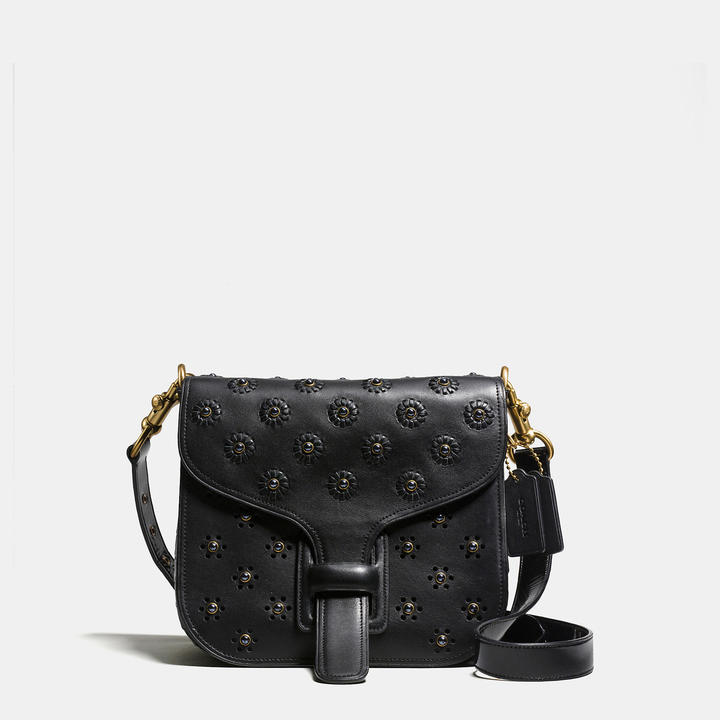 Coach   COACH Coach Courier Bag In Glovetanned Leather With Whipstitch Eyelet And Crocodile Detail