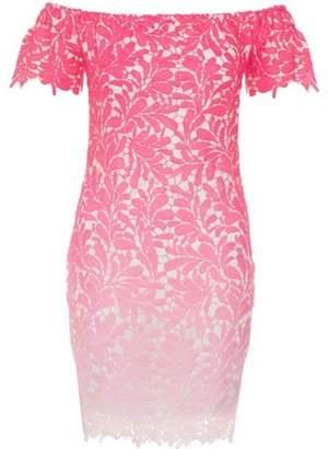 Dorothy Perkins Womens *Quiz Pink Crochet Bardot Bodycon Dress
