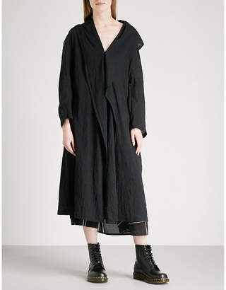 Y's Ys Oversized asymmetric cotton cardigan