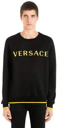 Versace Embroidered Viscose Neoprene Sweatshirt