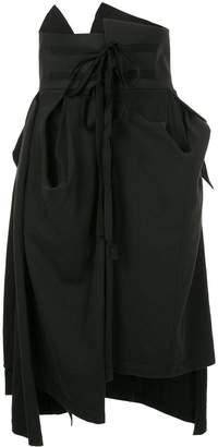 aganovich gathered and draped skirt