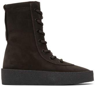 Yeezy Black Suede Crepe Boots