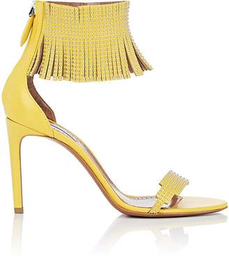 Alaia Women's Fringed-Cuff Leather Sandals