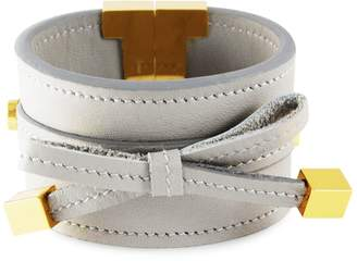 Tissuville - Bow & Cube Silver Grey Bracelet Gold